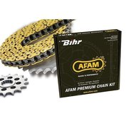 Drivpaket 428 AFAM chain kit 420 Type MX  | (ultra-light självrensande hård-anodizerad)