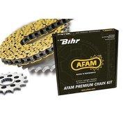 Drivpaket 520 AFAM chain kit 420 Type MX  | (ultra-light självrensande hård-anodizerad)